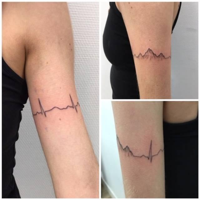 Les Tatouages Bracelets Tres Tendance De Nos Jours Salon De Tatouage Artistique Et Original A Bordeaux Pique A Cœur Ink